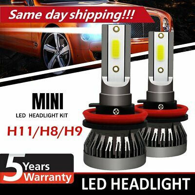 AU15.33 • Buy 2X H8/H9/H11 320W 26000LM LED Headlight Globe Beam Bulbs 6500K White High Power