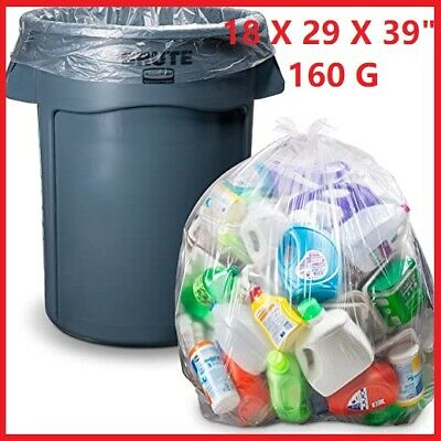 £5.45 • Buy CLEAR Large Strong Plastic Polythene Bin Liners Waste Bags Sacks18 X29 X39 160G