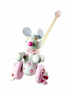 Mousehouse Traditional Wooden Push Along Toy Mouse For Toddler Boy Or Girl • 12.99£