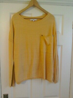 Next Peach Coral Lightweight Knit Jumper Top Size 14 Oversized 14-16-18 Slouchy • 5.99£