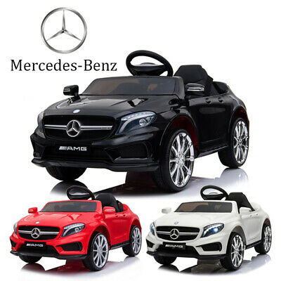 12V Ride On Car Electric Licensed MERCEDES BENZ Kids AMG GLA45 Twin Motor Remote • 103.99£