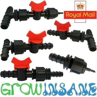 19mm Valves Tee Take Apart Connectors BSP 4mm 13mm ID Garden Irrigation Pipe • 5.99£