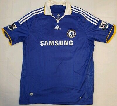 Chelsea Blue Adidas Home Football Shirt Jersey Trikot Maglia 2008 2009 Size XL • 34.99£