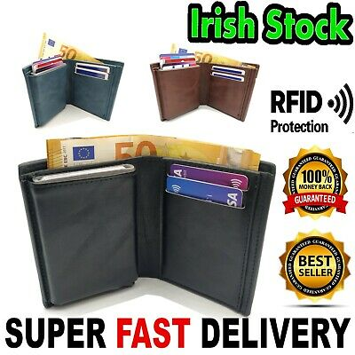 $ CDN5.89 • Buy 2in1 Wallet Alu RFID Protected Man Men PU Leather Notes Card Holder + GIFT BOX