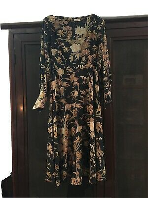 AU350 • Buy Zimmerman Floral Silk Long Sleeve Dress Size 1
