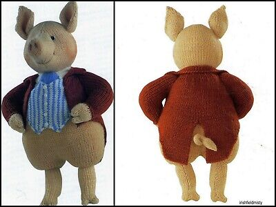 Beatrix Potter Alan Dart  Pigling Bland Toy/doll Tdb  Knitting Pattern  • 20£