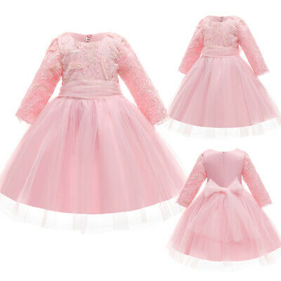 £17.08 • Buy Baby Girls Bridesmaid Ball Gown Dress Flower Kid Wedding Christmas Party Dresses