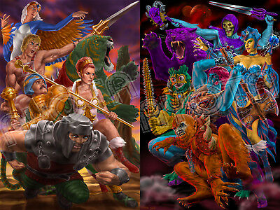 $22 • Buy Masters Of The Universe Two Poster Set Limited Edition He-Man, Skeletor, Teela,