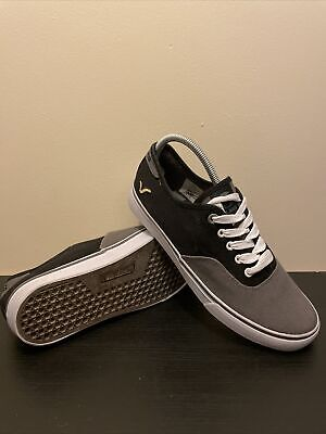 Voi Jeans Mens Size UK 9 Black And Grey Canvas Trainer Pumps • 9.95£