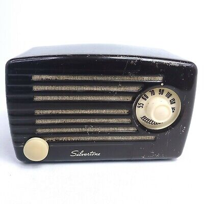 $ CDN196.65 • Buy Vintage Radio Sears Silvertone Tube Radio Catalog Model No.1 Metal Chassis Works