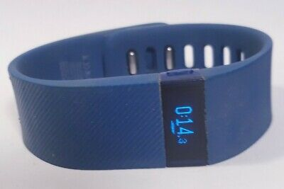 $ CDN32.17 • Buy Blue Fitbit Charge Activity Fitness Tracker Heart Rate Watch Sz Small & Charger