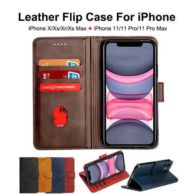 AU5.89 • Buy NEW Leather Case Flip For IPhone 11 Pro Max X XR MAX 360 Protect Shockproof Case