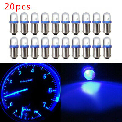 AU10.83 • Buy 20Pcs 12V W6W BA9S LED Lights Bulb H6W 1815 1816 Dash License Plate Lamp Blue