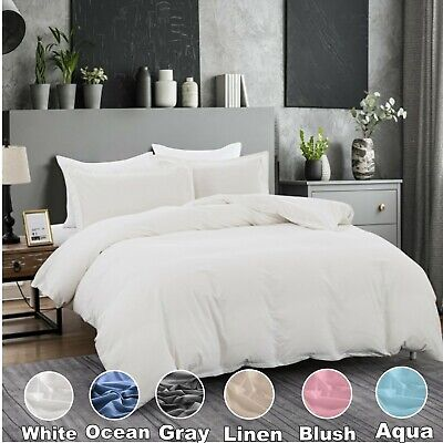 AU44.50 • Buy 1000TC 100% Cotton Double Queen King Super King Quilt Duvet Doona Cover Set AU