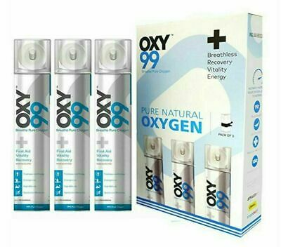 Portable Oxygen Can With One Oxygen Face Mask & Pack Of 3 Oxygen Can • 51.25£