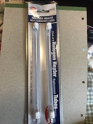 £9 • Buy 2 X Pack  Of 2 HALOGEN HEATER REPLACEMENT TUBES BULBS  400W 215mm FROSTED LAMP