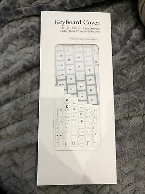 Keyboard Cover High Quality Keyboard Protector White For Apple EU English • 2.99£