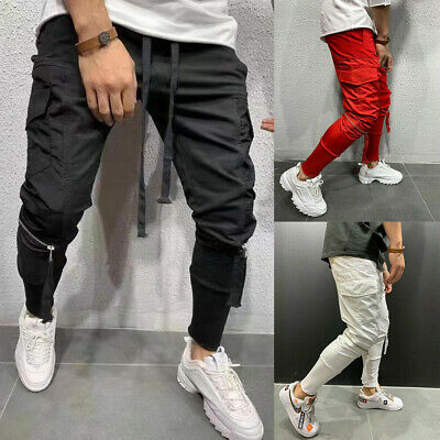 $23.99 • Buy Man Casual Baggy Joggers Pants Sweatpants Cargo Sports Slim-Fit Workout Trousers