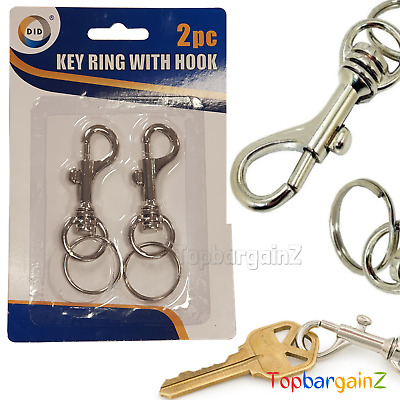 Key Ring Lobster Swivel Clasps Metal Trigger Clips Snap Hook Split Ring Findings • 3.29£