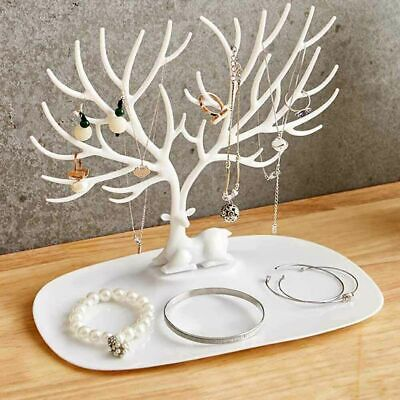 Deer Tree Jewelry Display Stand Organizer Necklace Earring Holder Rings Rack _UK • 5.39£