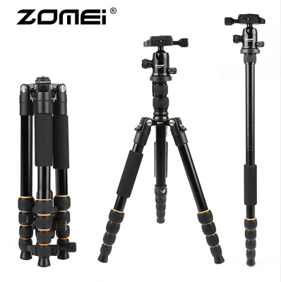 AU75.19 • Buy ZOMEI Portable Professional Q666 Tripod Monopod&Ball Head Travel For DSLR Camera