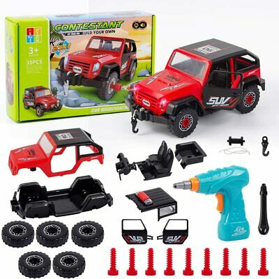 £22.99 • Buy Car Building Kit For Kids Take Apart Car Toy Drill 35 Pcs Build Your Own Car Kit