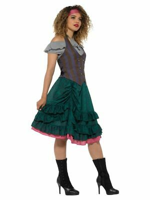 Deluxe Pirate Wench Costume Ruffled Dress Ladies Buccaneer Fancy Dress Outfit M • 16.99£