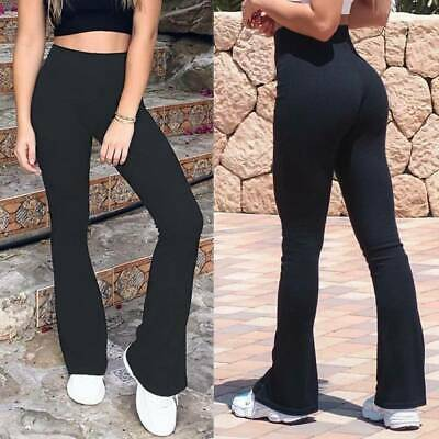 Bootcut Yoga Pants Women Bootleg Flare Trousers Workout Casual Fitness Running L • 4.59£