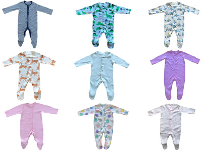 Ex Mothercare Babies Boys Girl's Babygrow 100% Cotton Toddler Playsuit Sleepsuit • 4.85£
