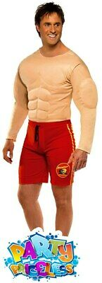£24.99 • Buy Baywatch Lifeguard Costume Padded Muscle Chest Mens 90s Fancy Dress Outfit Stag