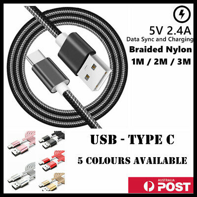 AU8.49 • Buy Heavy Duty USB Type C Data Charger Cable Charging For Samsung Huawei Google LG