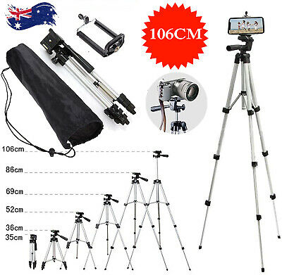 AU14.99 • Buy Professional Camera Tripod Stand Mount Remote+Phone Holder For IPhone 12 Samsung