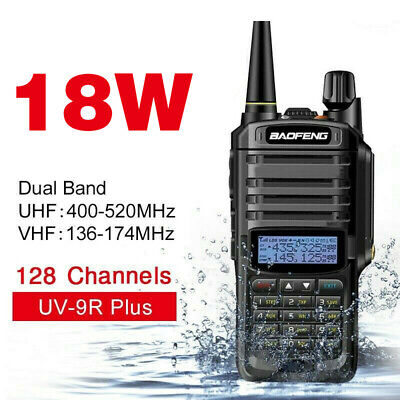 18W VHF UHF Walkie Talkie Dual Band Waterproof For Baofeng UV-9R Plus Radio UK • 28.98£