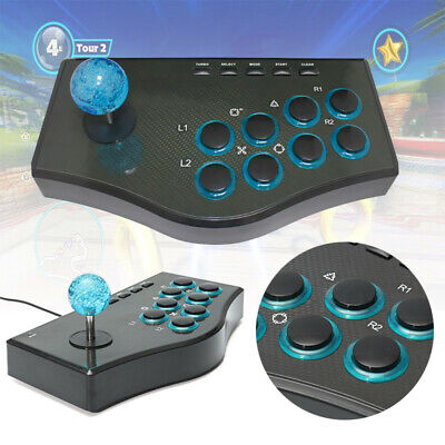For PC PS3 USB Wired Arcade Fighting Fighter Joystick Gamepad Controller Stick E • 27.12£