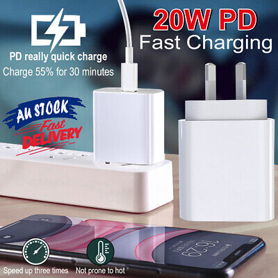 AU18.78 • Buy PD20W Mini USB Fast Charger Nano Compatible With IPhone 12 Pro Max AU Plug