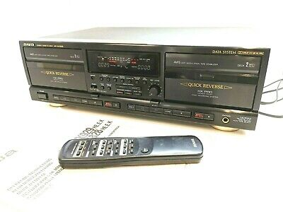 AIWA AD-WX929 Twin Cassette Tape Deck - BOXED MINT WITH REMOTE **SERVICED** • 295£