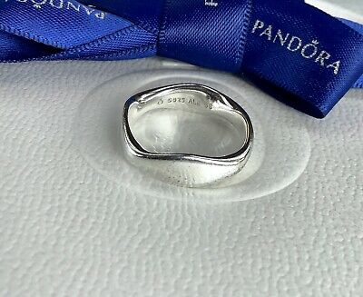 AU89 • Buy Authentic Pandora Liquid Silver Ripple Wave Ring Size 56 #190712
