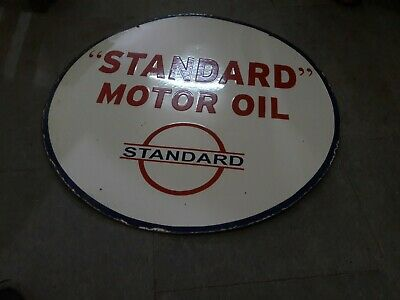 $ CDN251.06 • Buy Porcelain Standard Motor Oil Sign Size 30  Inches Double Sided