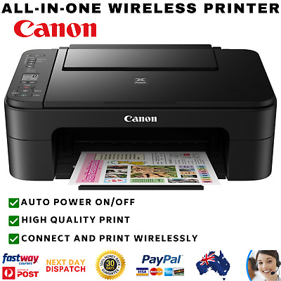AU79.56 • Buy Canon Wireless Printer Print Scan Copy Printing LCD Screen Home Student Office