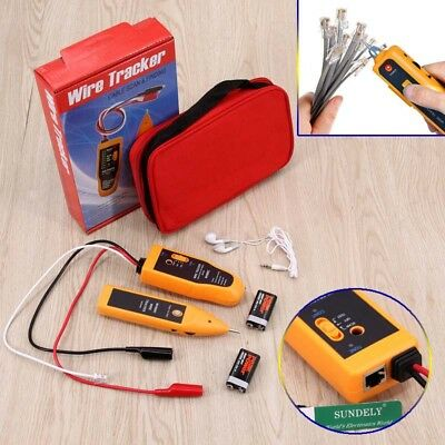 Telephone Network Cable Wire Line LAN Cable RJ45 Tracker Toner Tracer Tester -UK • 22.90£