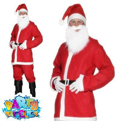 £7.49 • Buy Mens Bargain Santa Claus Costume Cheap Adult Father Christmas Fancy Dress Outfit