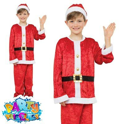 £9.99 • Buy Childs Santa Claus Costume Boys Father Christmas Kids Xmas Fancy Dress Outfit