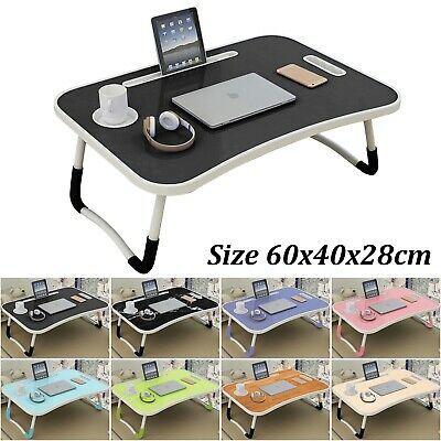 Folding Laptop Desk Table Bed Laptop Stand Lap Tray Portable Sofa Breakfast Tray • 18.99£