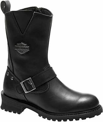 $ CDN169.26 • Buy Harley Davidson Bladen Mens Riding Biker Leather Side-Zip Boots