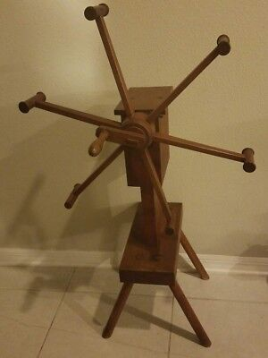 YARN WINDER SPINNING WHEEL ORIGINAL 25x19x42  ANTIQUE PRIMITIVE WOODEN  • 283.72£