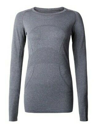 $ CDN58.39 • Buy Lululemon Size 10 Swiftly Tech Long Sleeve Crew Heathered Black Dark Gray