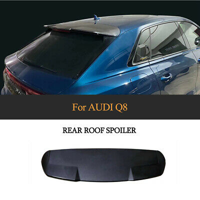 $ CDN372.25 • Buy Fit For AUDI Q8 2019-20 Rear Roof Spoiler Top Wing Window Carbon Look ABS Refit