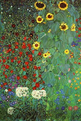$ CDN20.04 • Buy Gustav Klimt Fine Art Poster Print Farm Garden With Sunflowers