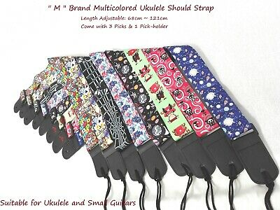 AU13 • Buy  M  Multicolored Length Adjustable Ukulele Shoulder Strap,68~121cm+Pick-Holder