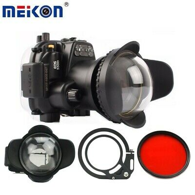 AU599 • Buy Meikon 40m Underwater Camera Diving Housing Case For Canon 550D With Dome Port